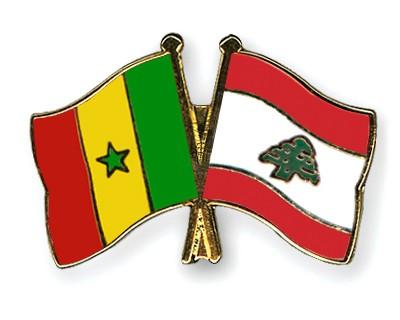 Crossed Flag Pins Senegal-Lebanon