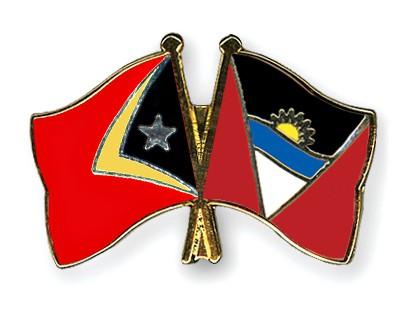 Crossed Flag Pins Timor-Leste-Antigua-and-Barbuda