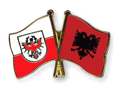 Crossed Flag Pins Tyrol-Albania