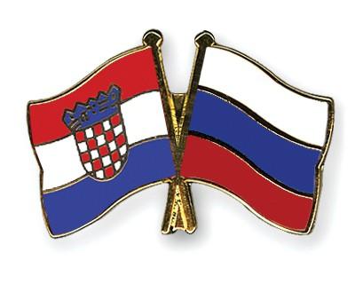 Crossed Flag Pins Croatia-Russia