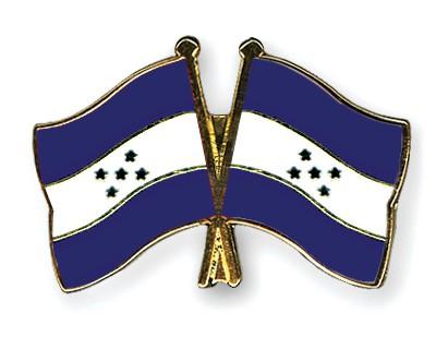 Crossed Flag Pins Honduras-Honduras