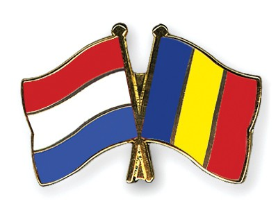 Crossed Flag Pins Netherlands-Chad