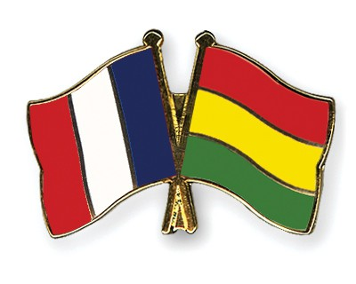 Special Offer Crossed Flag Pins France-Bolivia