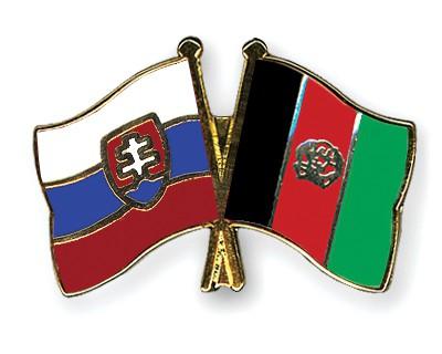 Crossed Flag Pins Slovakia-Afghanistan