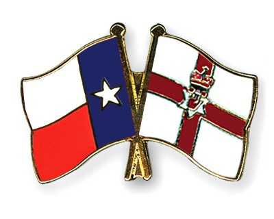 Crossed Flag Pins Texas-Northern-Ireland