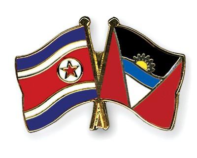 Crossed Flag Pins North-Korea-Antigua-and-Barbuda