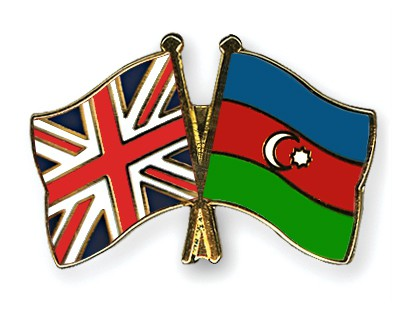 Crossed Flag Pins Great-Britain-Azerbaijan