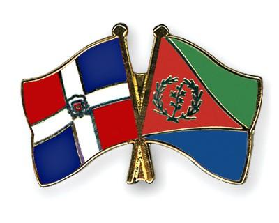 Crossed Flag Pins Dominican-Republic-Eritrea