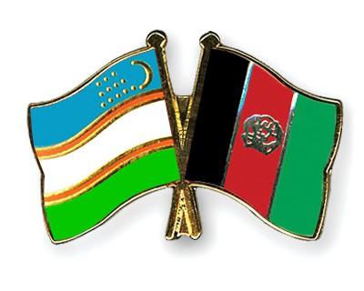 Crossed Flag Pins Uzbekistan-Afghanistan