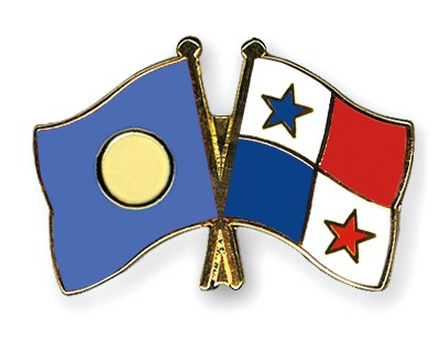 Crossed Flag Pins Palau-Panama