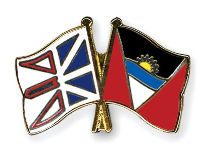 Crossed Flag Pins Newfoundland-and-Labrador-Antigua-and-Barbuda