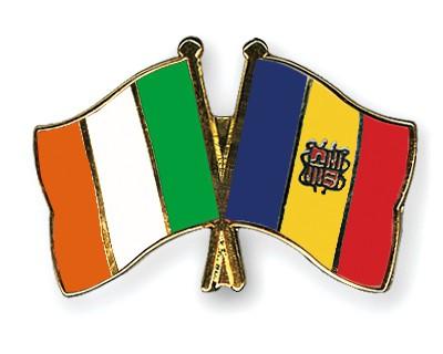 Crossed Flag Pins Ireland-Andorra