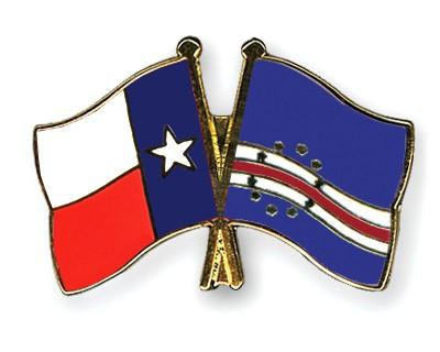 Crossed Flag Pins Texas-Cape-Verde
