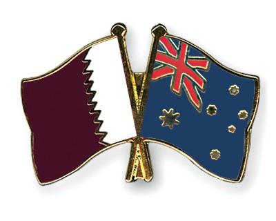 Special Offer Crossed Flag Pins Qatar-Australia