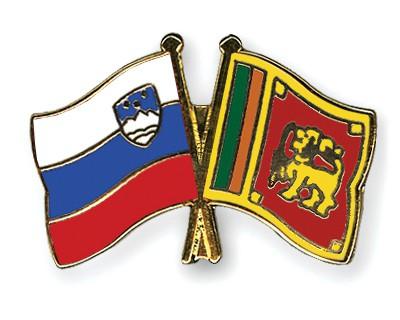 Crossed Flag Pins Slovenia-Sri-Lanka