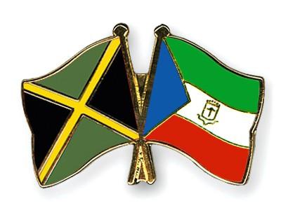 Crossed Flag Pins Jamaica-Equatorial-Guinea