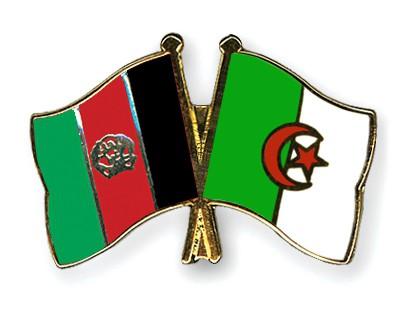 Crossed Flag Pins Afghanistan-Algeria