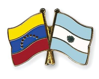 Crossed Flag Pins Venezuela-Argentina