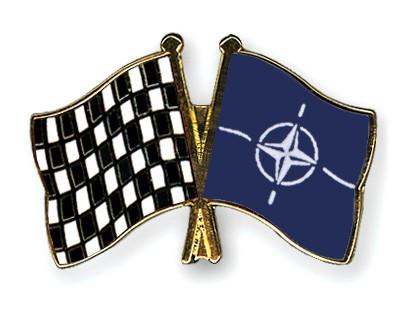 Crossed Flag Pins Flag-checkered-black-and-white-NATO
