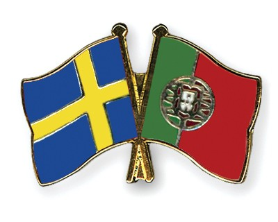 Special Offer Crossed Flag Pins Sweden-Portugal