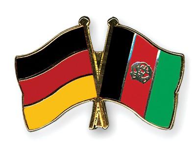 Crossed Flag Pins Germany-Afghanistan
