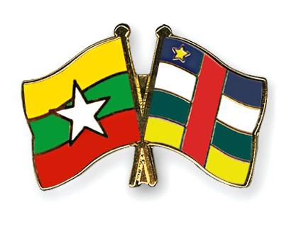 Crossed Flag Pins Myanmar-Central-African-Republic