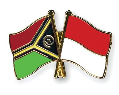 Crossed Flag Pins Vanuatu-Indonesia