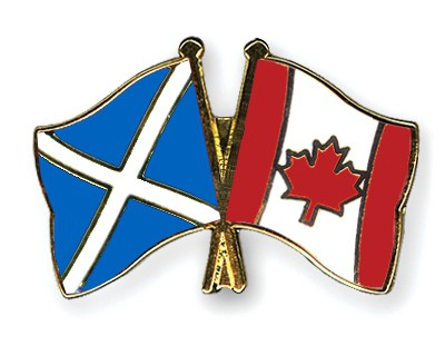 Special Offer Crossed Flag Pins Scotland-Canada