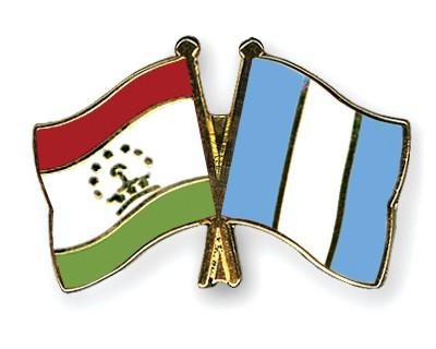 Crossed Flag Pins Tajikistan-Guatemala