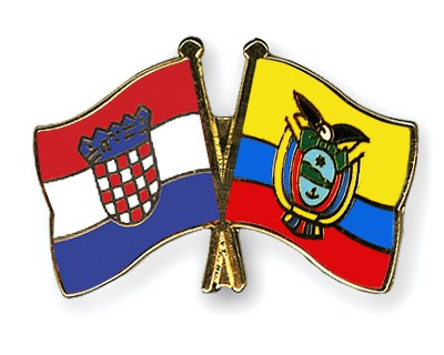 Crossed Flag Pins Croatia-Ecuador