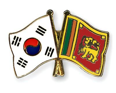 Crossed Flag Pins South-Korea-Sri-Lanka