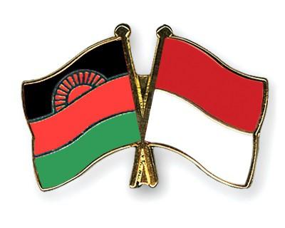 Crossed Flag Pins Malawi-Monaco