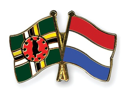 Crossed Flag Pins Dominica-Netherlands