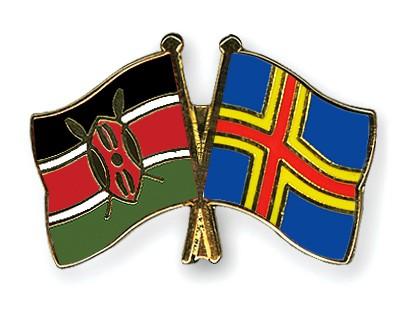 Crossed Flag Pins Kenya-Aland
