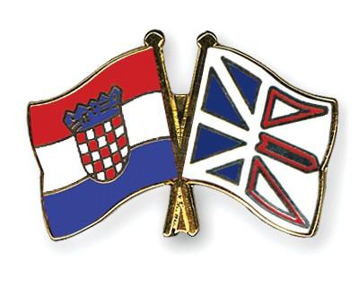 Crossed Flag Pins Croatia-Newfoundland-and-Labrador