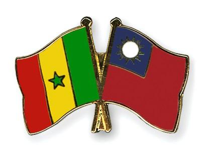 Crossed Flag Pins Senegal-Taiwan