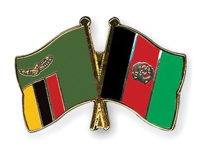 Crossed Flag Pins Zambia-Afghanistan