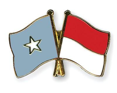 Crossed Flag Pins Somalia-Indonesia