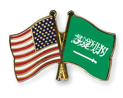 Special Offer Crossed Flag Pins USA-Saudi Arabia