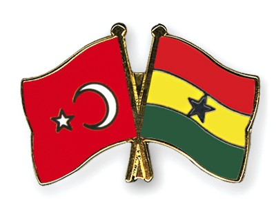 Crossed Flag Pins Turkey-Ghana