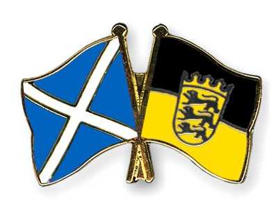 Special Offer Crossed Flag Pins Scotland-Baden-Wuerttemberg