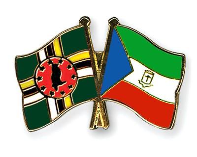 Crossed Flag Pins Dominica-Equatorial-Guinea