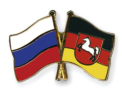 Special Offer Crossed Flag Pins Russia-Lower-Saxony