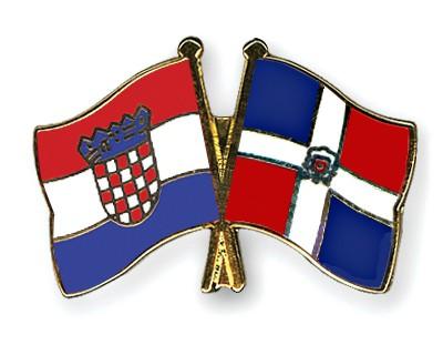 Crossed Flag Pins Croatia-Dominican-Republic