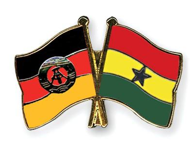 Crossed Flag Pins GDR-Ghana