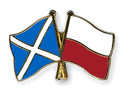 Special Offer Crossed Flag Pins Scotland-Poland