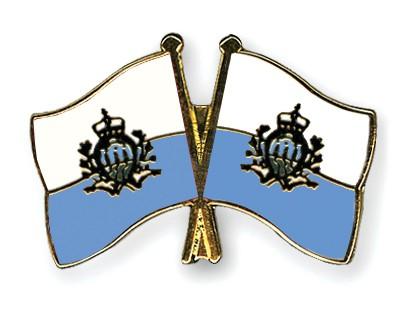 Crossed Flag Pins San-Marino-San-Marino