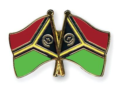Crossed Flag Pins Vanuatu-Vanuatu