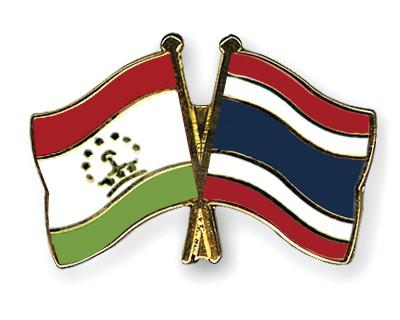 Crossed Flag Pins Tajikistan-Thailand