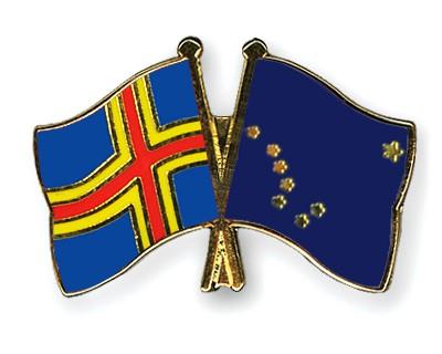 Crossed Flag Pins Aland-Alaska
